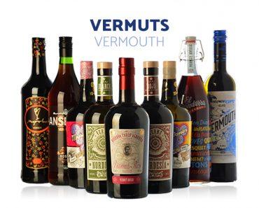 Botellas de vermuts o vermouth