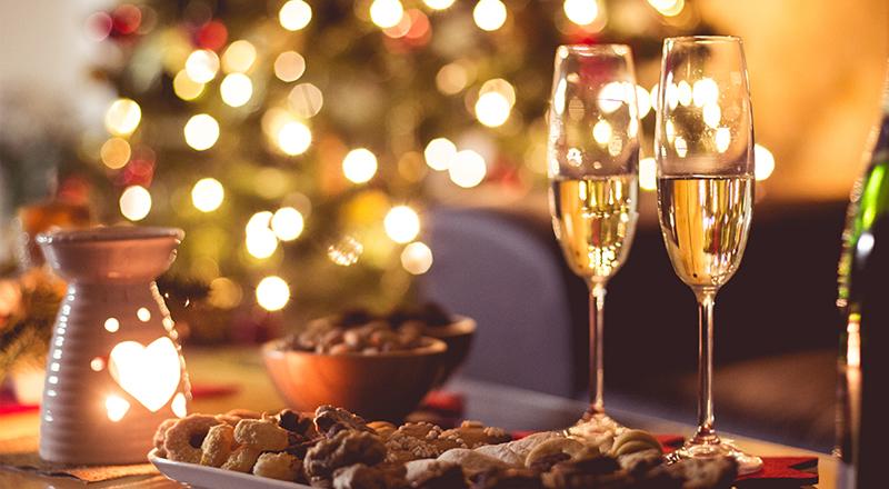 maridaje de vinos y platos en Navidad