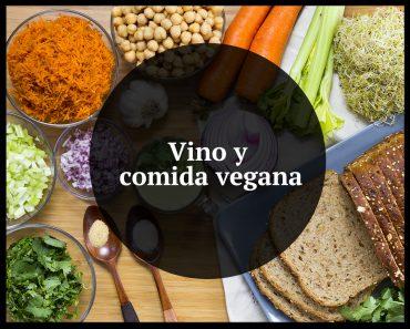 vino y comida vegana